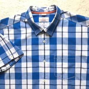 S. Oliver short Sleeve Button Down Shirt